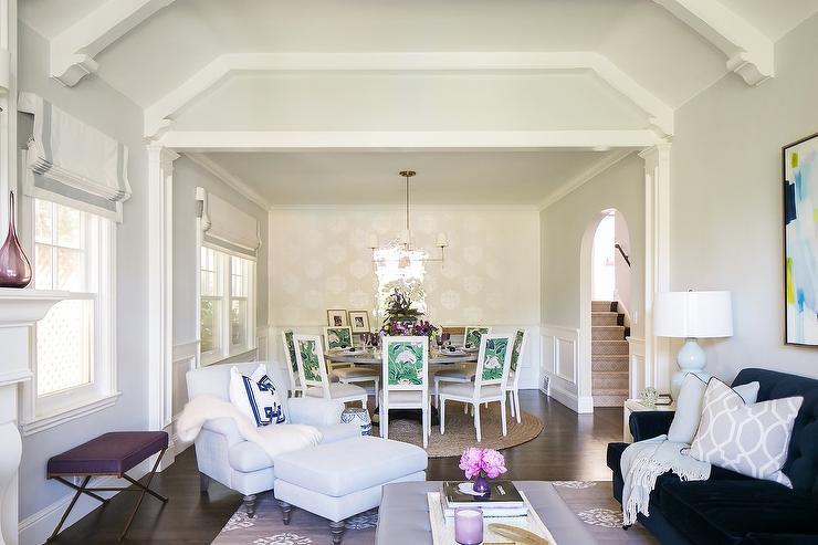 Brilliant Purple Leather Ottoman As Coffee Table On Purple Rug Inzonedesignstudio Interior Chair Design Inzonedesignstudiocom