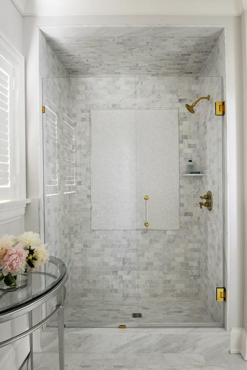 Shower Accent Tiles Transitional Bathroom Tiek Built