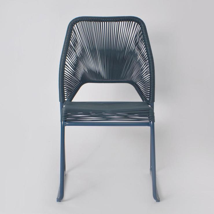 Project 62 Fisher Blue Wicker Patio Dining Chair