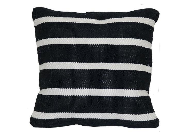 Project 62 Black Narrow Striped Outdoor Pillow