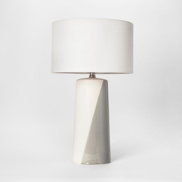 Project 62 Cohasset Dipped Gray Cream Ceramic Table Lamp