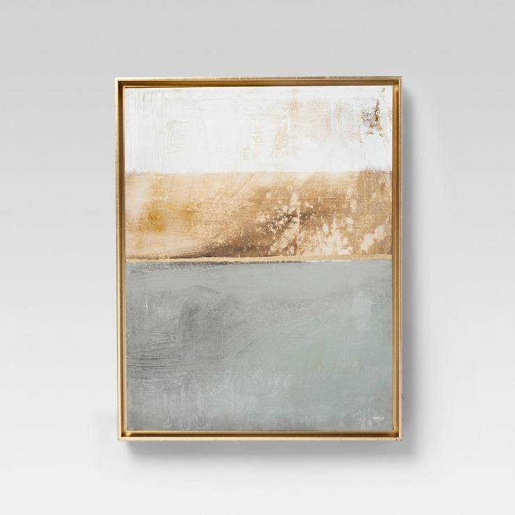 Project 62 Modern Gray Gold Framed Wall Canvas