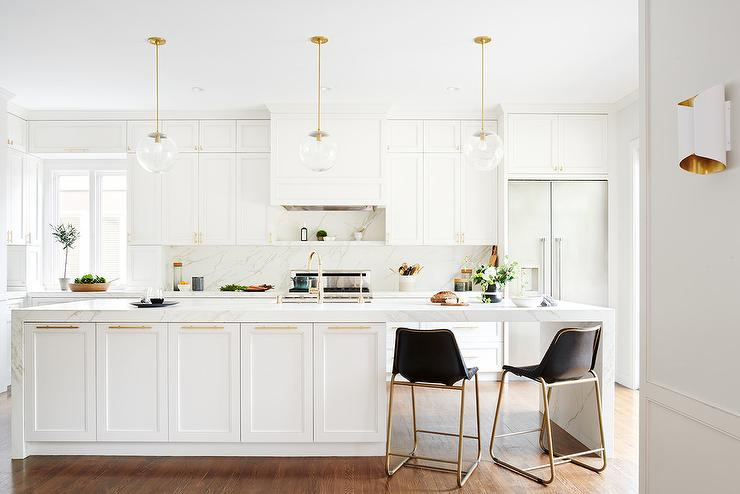 White Kitchen Cabinets With Sawn Oak Wood Floors