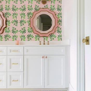 Dual L Shaped Bathroom Vanity Design Ideas