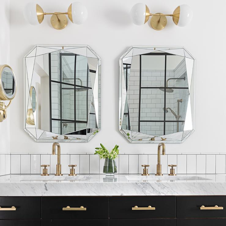 Emerald Cut Bathroom Vanity Mirrors Design Ideas