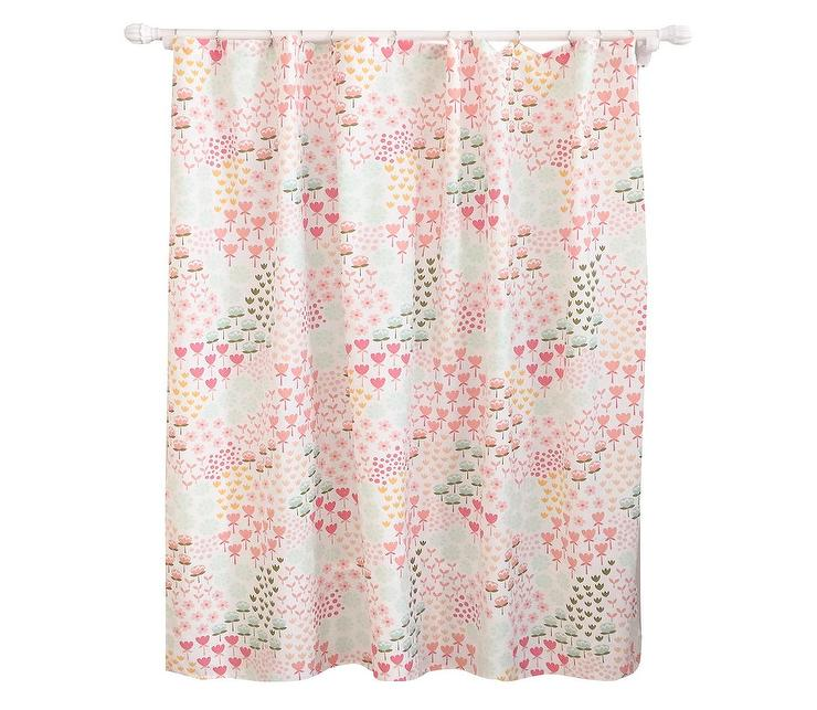 Pillowfort Pink Floral Pattern Shower Curtain