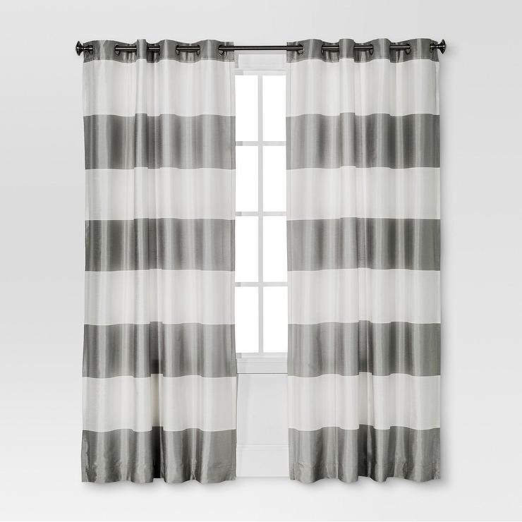 striped stripe curtains vertical black horizontal curtain and thick bold white