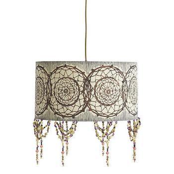 Acrylic Drum Bronze Pendant Lamp