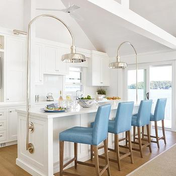 kitchen window lighting recessed blue leather stools at white kitchen island with industrial lighting window design ideas