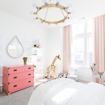 Pink Campaign Girls Bedroom Dresser Design Ideas