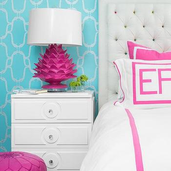 Turquoise Blue And Hot Pink Bedroom Colors Design Ideas