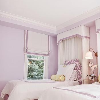 White And Purple Valance Box Design Ideas