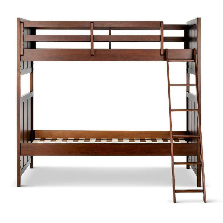 Pillowfort Finn Espresso Wood Kids Bunk Bed