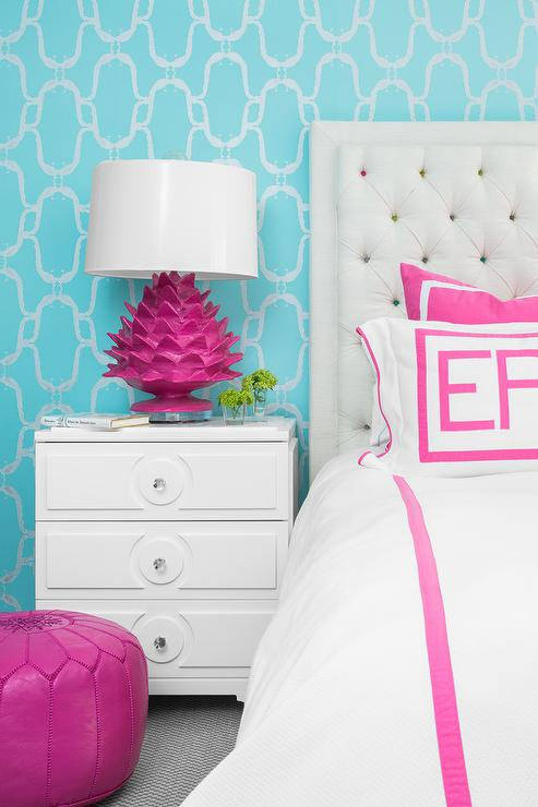 Hot Pink Bedroom: Hot Pink Tufted Headboard