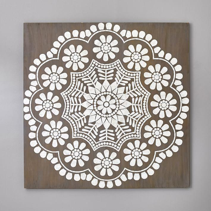 Mandala Oversize White Capiz Medallion Wall Art