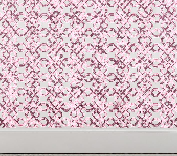 Lilly Pulitzer Well Connected Pink White Wallpaper