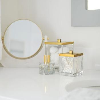 Acrylic and Gold Bathroom Accessories