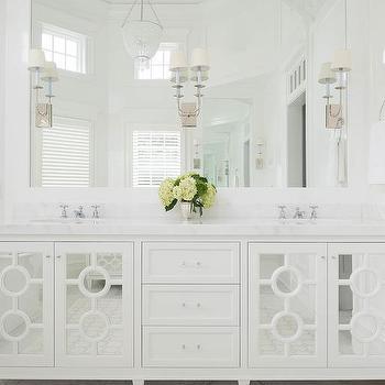 Mirrored Bath Vanity Cabinet Doors Design Ideas