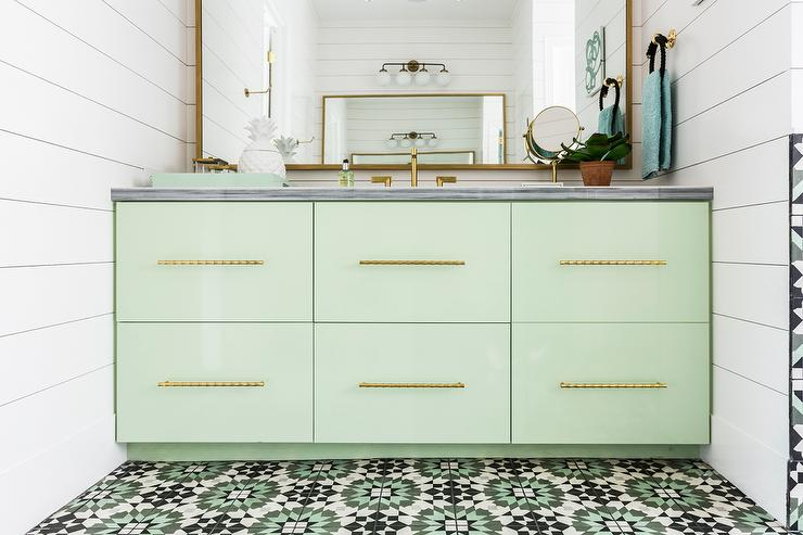 Mint Green Bath Vanity Design Ideas