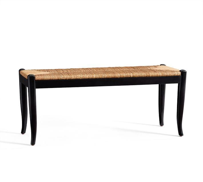 Seagrass Upholstered Bench Pottery Barn