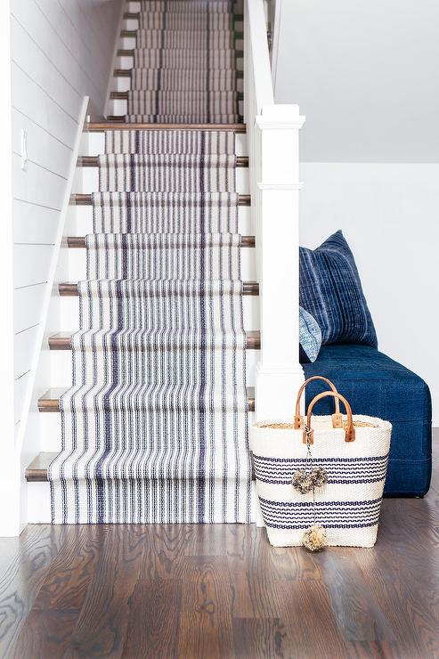 Striped Kitchen Runner Transitional Kitchen Bakes And Company