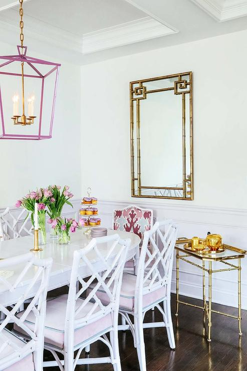 Super White And Pale Pink Dining Room Colors Transitional Home Interior And Landscaping Ologienasavecom