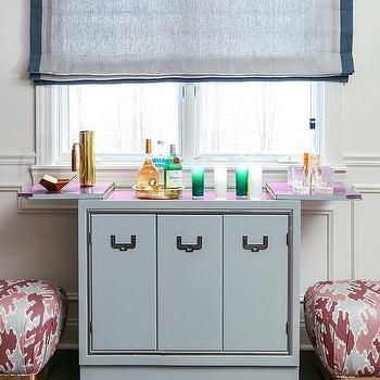 Bar Cabinet Under Window Design Ideas