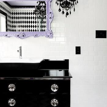 Modern Black Lacquer Bath Vanity Design Ideas