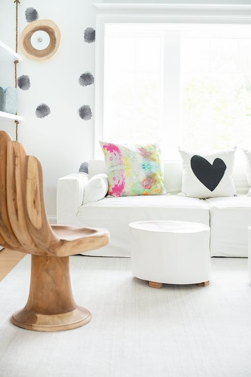 Playroom With Wood Hand Chair