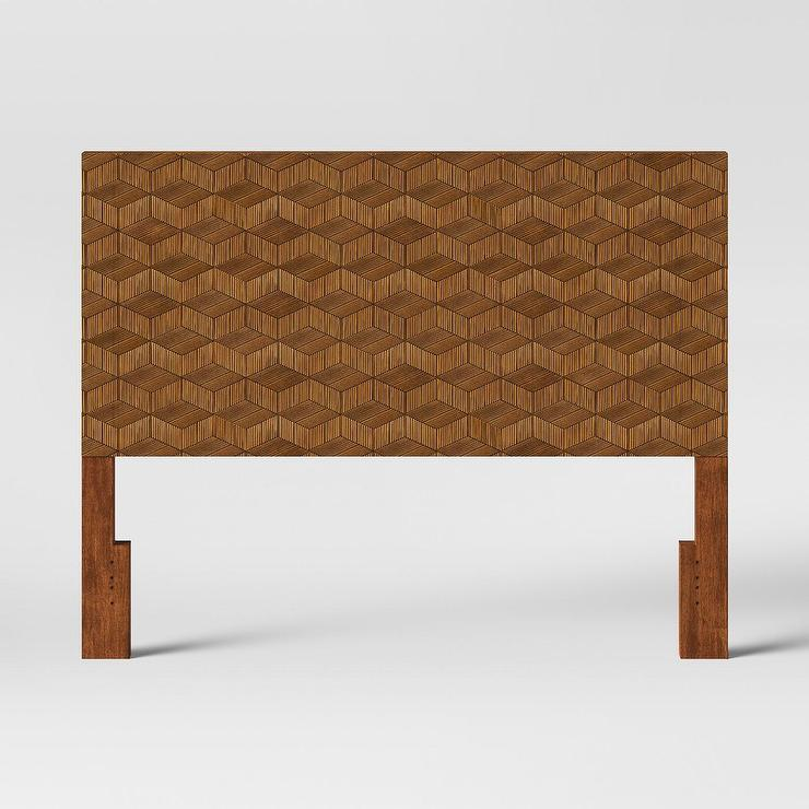 Pleasing Opalhouse Tachuri Geometric Brown Front Headboard Inzonedesignstudio Interior Chair Design Inzonedesignstudiocom