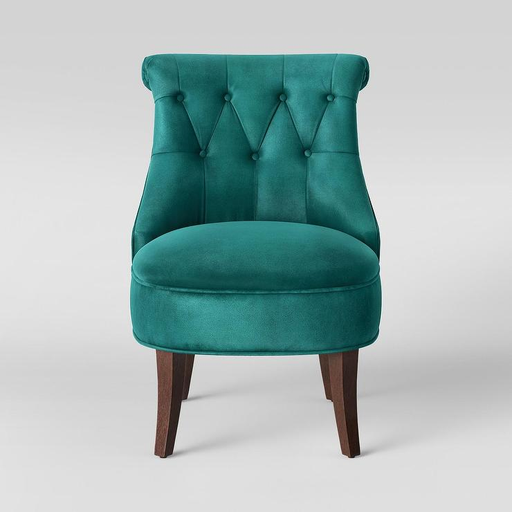 Swell Teal Accent Chair With Arms Stanford Classic Design Rolled Pabps2019 Chair Design Images Pabps2019Com