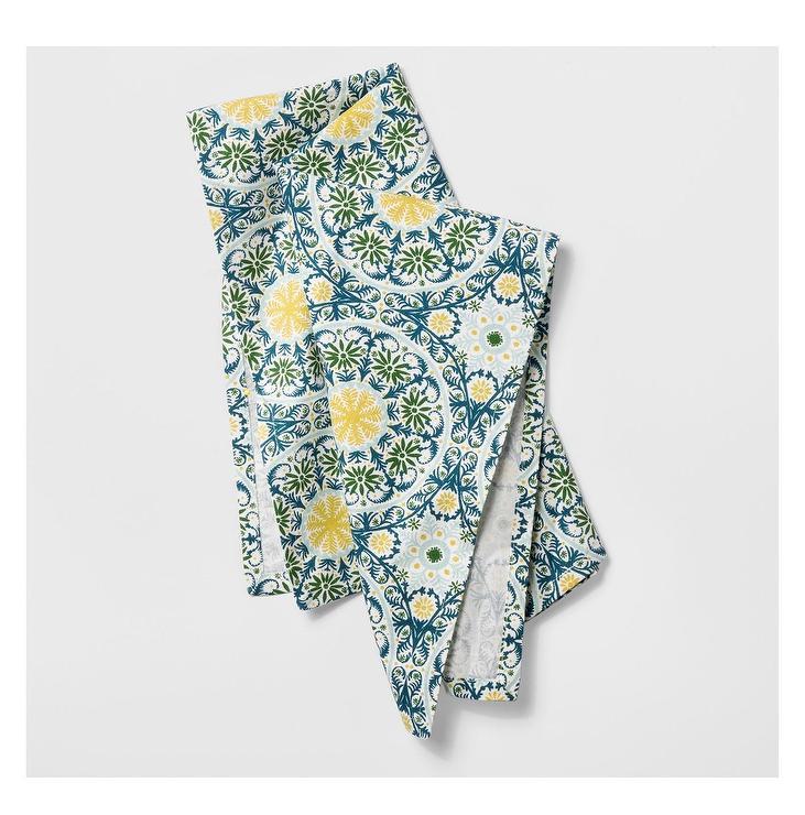 Opalhouse Blue Green Medallion Kitchen Towel