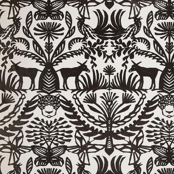 Opalhouse Eulalia Black White Nature Removable Wallpaper