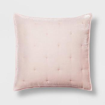 Pink And Gold Velour Geo Pattern Throw Pillow
