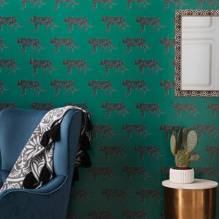 Opalhouse Bluff Green Panther Peel Stick Removable Wallpaper
