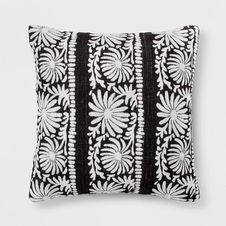 Opalhouse Colored Outdoor Striped Tassels Throw Pillow