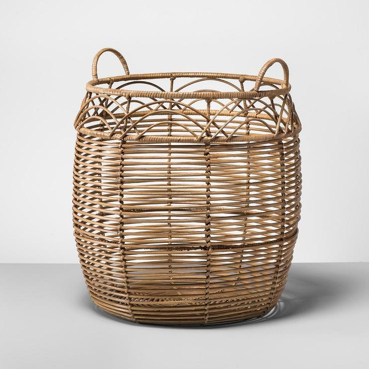 rattan basket small from storage box.htm opalhouse natural large rattan storage basket  opalhouse natural large rattan storage
