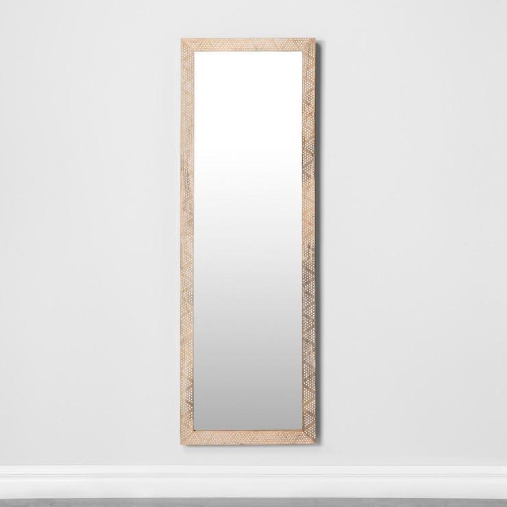 Sabine Floor Mirror Pottery Barn, Pottery Barn Carved Wood Floor Mirror