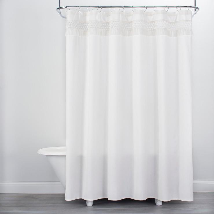 Opalhouse Cream Macrame Shower Curtain