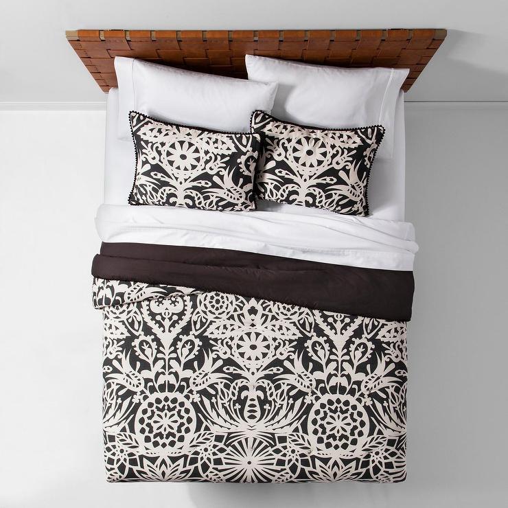 Opalhouse Black White Floral Anajassa Comforter Set