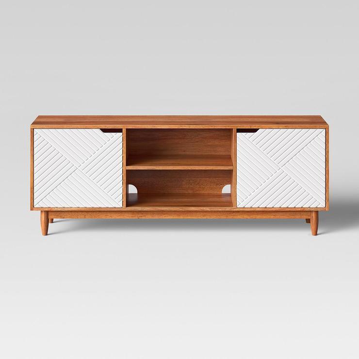 Opalhouse Touraco Geometric Brown White Tv Stand