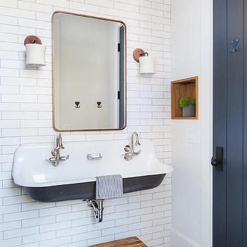 Bathrooms Copper Colored Tiles Design Ideas
