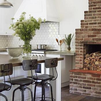 Red Brick Fireplace Design Ideas