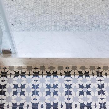 Carrera Marble Shower Tiles Design Ideas