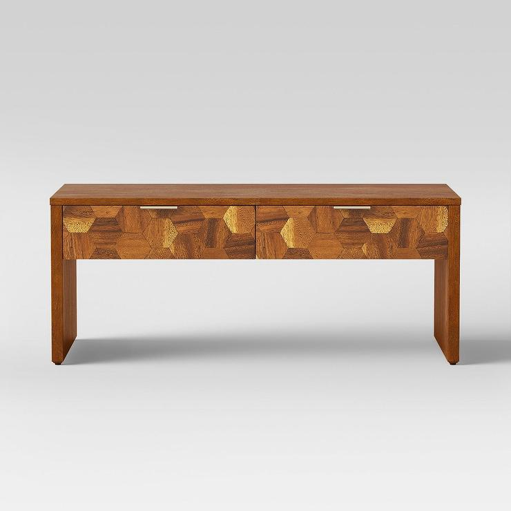 Pleasant Opalhouse Tachuri Geometric Front Wood Coffee Table Inzonedesignstudio Interior Chair Design Inzonedesignstudiocom