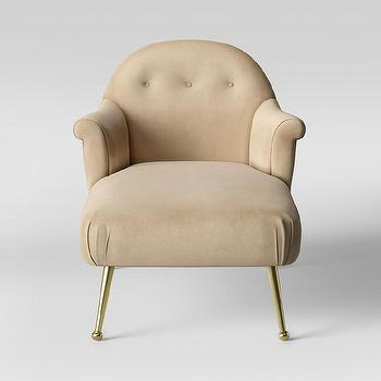 Lucille Beige Linen Victorian Chaise Overstock Com