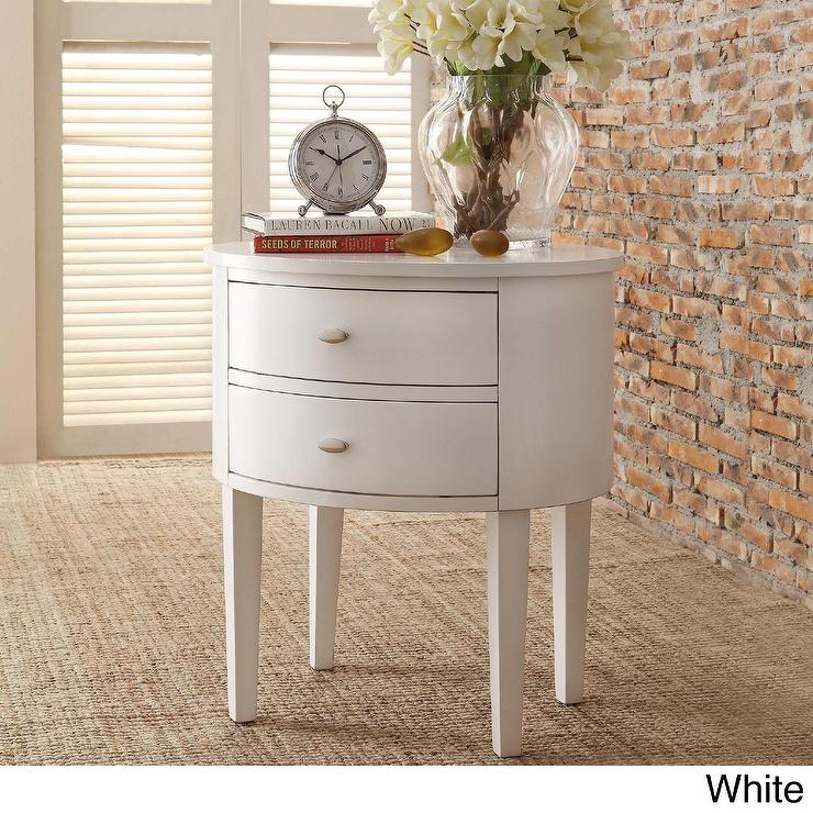 Threshold White Mirrored Drawer Accent Table I Target