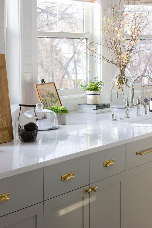 White and Gray Classic Kitchen Design - Transitional - Kitchen