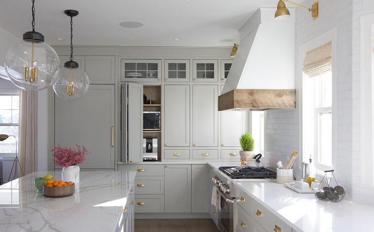 Kitchen Pocket Doors on Small Kitchen Appliances Cabinet ...