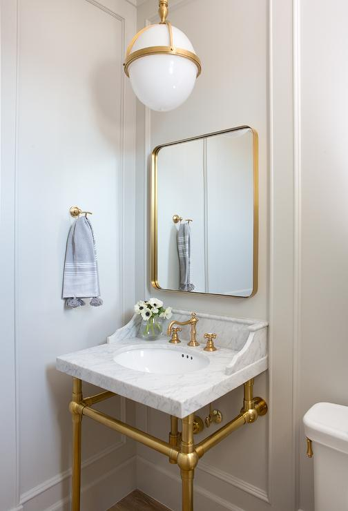 Brass Curved Mirror Design Ideas